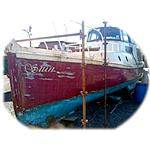 40ft 1922 British Admiralty built Burmese teak on oak boat.