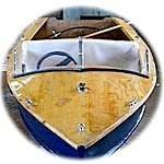 """""""Little Sanity"""" built from the free """"Mustang"""" plans in the Boat Builders Handbook"""
