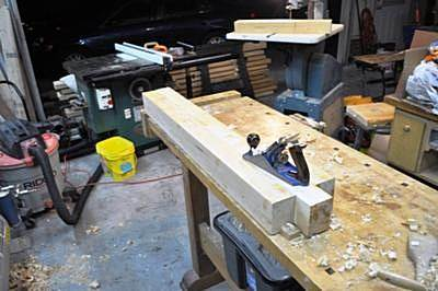 shaftlog2 Hand Planning Shaft Log to Width