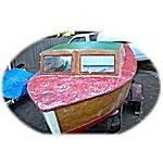 1956 18' plywood boat