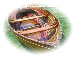 Wooden Clinker Rowing Boat
