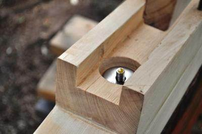 Lower Shaft Log with Bolt Fitted