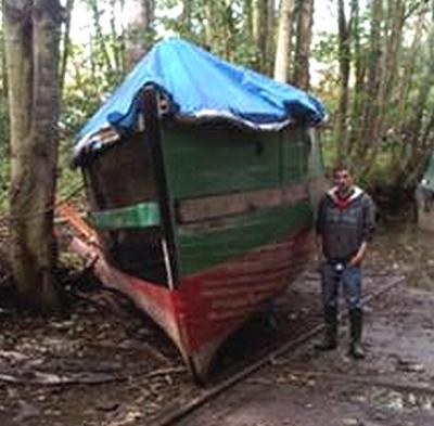 SOLD 1903 25 Ft Ex Fishing Boat