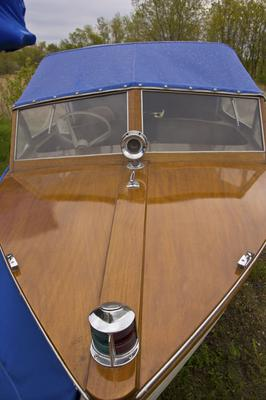 1957 Thompson 15' Wood Boat with Evinrude 25 hp Outboard