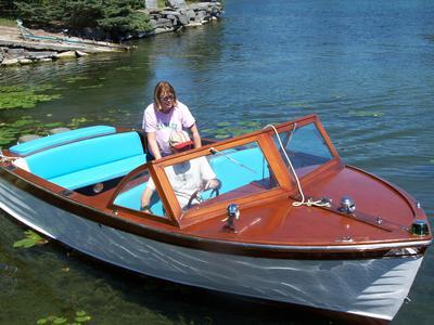 1960 Mason mahogany 20' outboard
