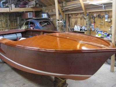 1962 16 foot all wooden Chris Craft Ski Boat weight?