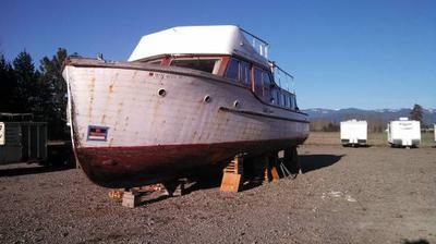 1949 Ed monk 43ft motor yacht.