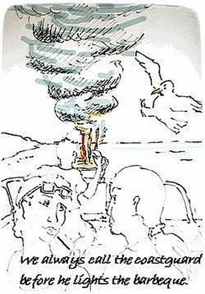 Crusing Barbeque Cartoon