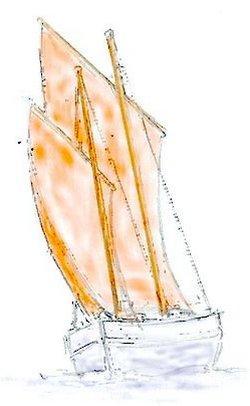 Traditional Dipping Lug Sail