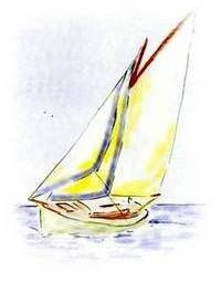 Sailing Boat Showing UV Strip
