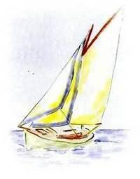Sailing Boat Showing UV Strip