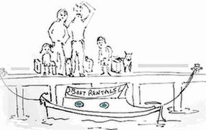 Boat Hire Cartoon