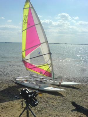 Hydrocat after its first test--10 knots