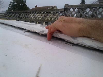 Repair fiberglass over wood scow warped keel?