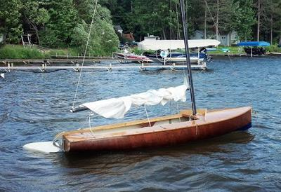 Restored Mahogany Jet 14 Sailboat 700