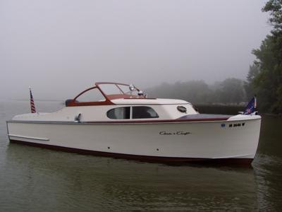 1947 chris craft express cruiser for Chris craft boat restoration