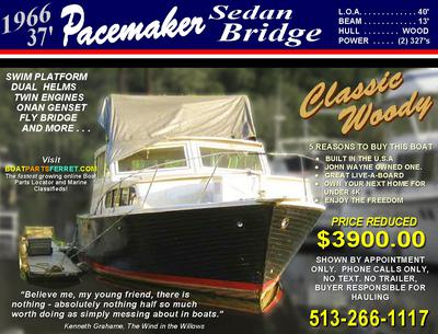 1966 Pacemaker 40' Fly Bridge