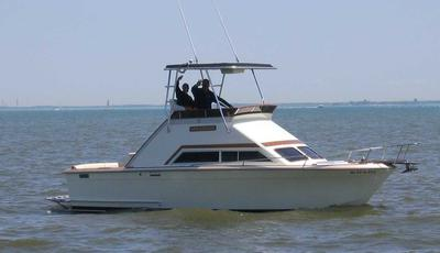 1973 Trojan Sea Raider that was repowerd and crafted by Mayea Boat Works