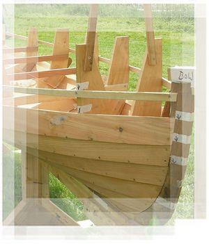Lapstrake, Clinker Woden Boat Construction.