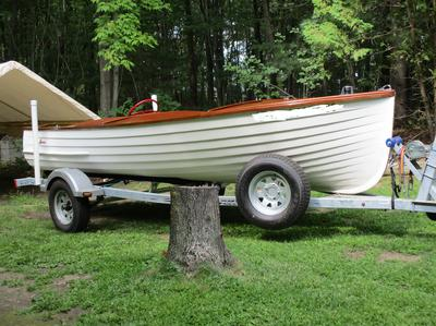 1953 Lyman 15 center steer runabout