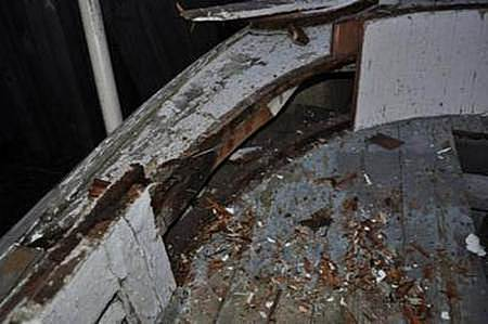 Rotted Shiplap bulwark